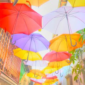 Allerbmu by Papin Michael - City,  Street & Park  Street Scenes ( kuala terengganu, art, street art, umbrella )