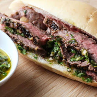 Steak and Chimichurri Sandwiches.