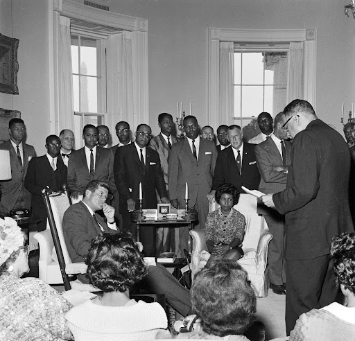 President John F. Kennedy Meets with National Association for the Advancement of Colored People (NAACP) Group