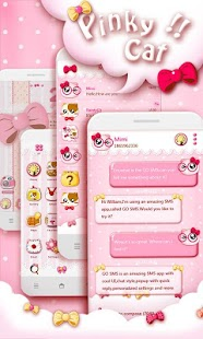 GO SMS PRO PINKYCAT THEME - screenshot thumbnail