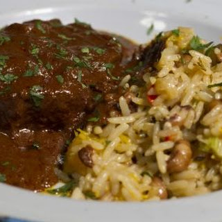 Spiced Beef in a Chocolate Sauce with Cook Up Rice
