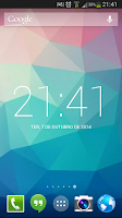 Screenshot of Roboto Clock Widget