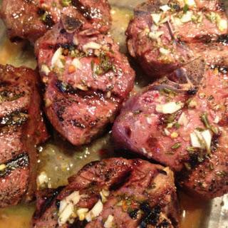 Lemon Rosemary Grilled Lamb Loin Chops.