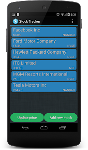 Stock Tracker - screenshot thumbnail