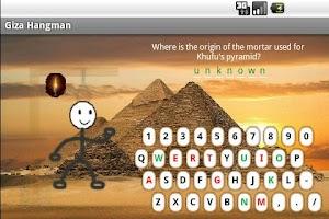 Screenshot of Giza Hangman