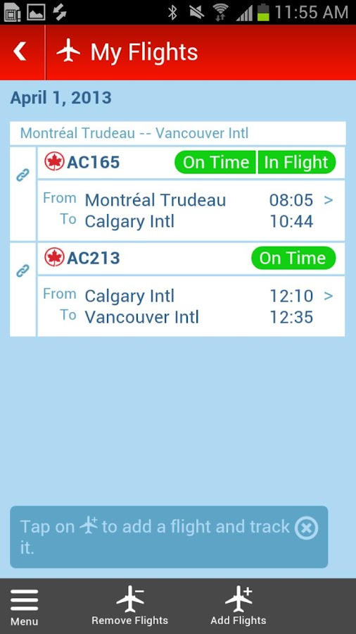 Air Canada (Beta) - screenshot