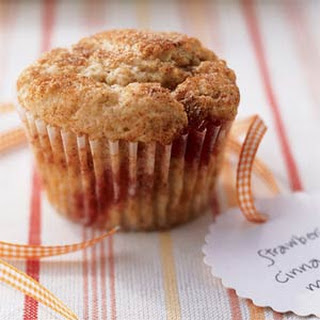 Low-Fat Strawberry-Cinnamon Muffins.
