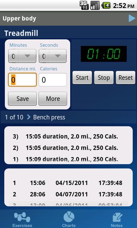 GymBook Fitness & Workout Log - screenshot