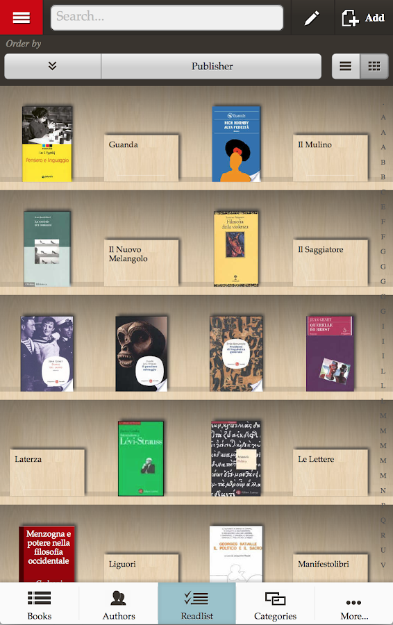 Bibliophilia LT- archive books - screenshot