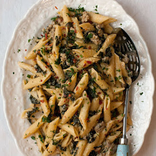 Kale and Sausage Penne with Lemon Cream Sauce Recipe