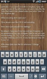 Qute Text Editor- screenshot thumbnail