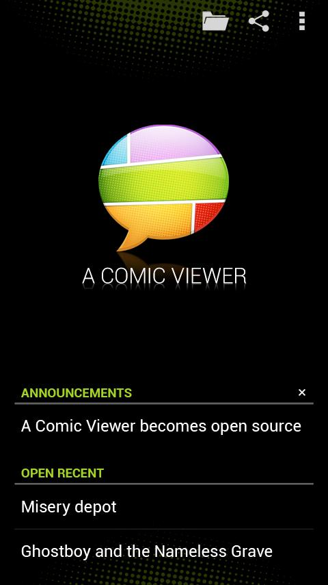 A Comic Viewer - screenshot