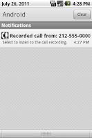 Screenshot of Phone Recorder