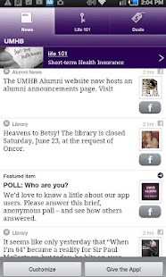 UMHB Crib Sheet for Alumni - screenshot thumbnail