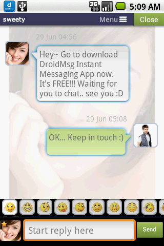DROIDMSG - Chat, Meet, Dating - screenshot