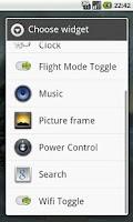 Screenshot of Wifi Toggle Widget