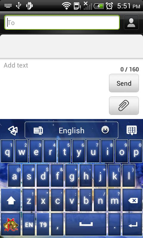 GO Keyboard Silent Night Theme - screenshot