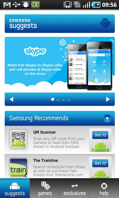 Samsung Recommends - screenshot