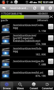 Video Converter Android: miniatura da captura de tela