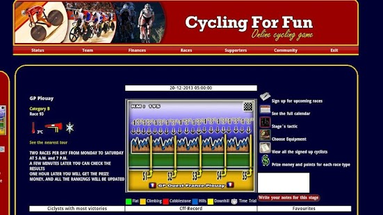 CFF Cycling Manager Game - screenshot thumbnail