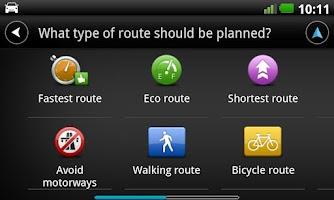 Screenshot of Europe GPS Navigation TomTom