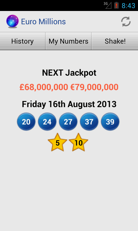 Euro Millions- screenshot