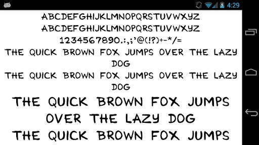 Fonts for FlipFont 50 Hand
