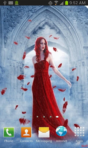 Lady In Red Live Wallpaper