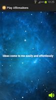 Screenshot of Affirmations Widget
