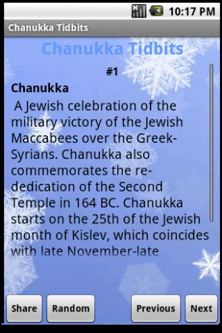 Chanukka Tidbits - screenshot