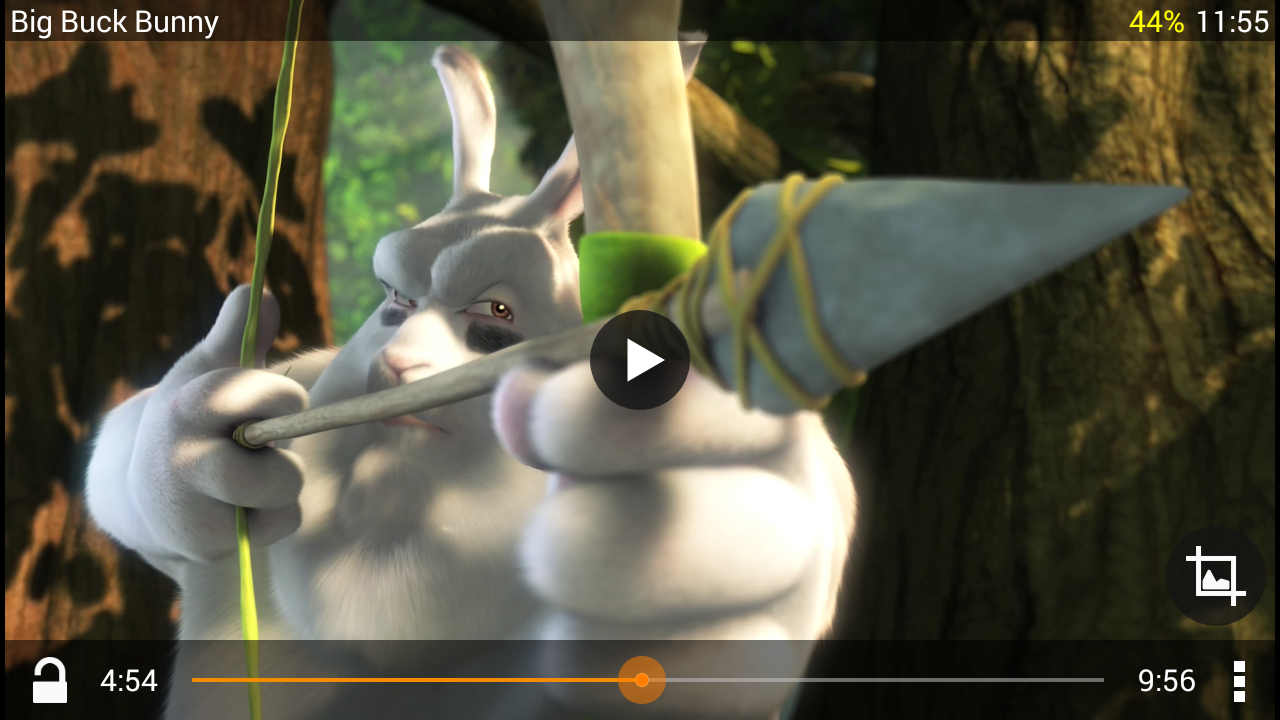 VLC for Android beta: captura de tela