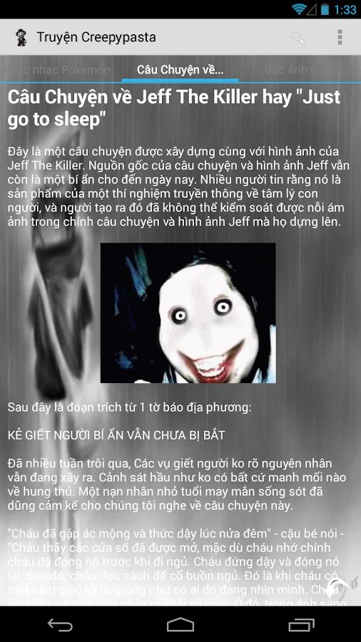 Truyện Creepypasta - screenshot