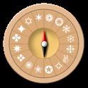Magic compass icon