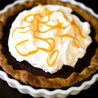 Chocolate Orange Cream Pie.