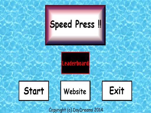 Speed Press der Party brüller