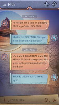 GO SMS LEMURIA THEME - screenshot