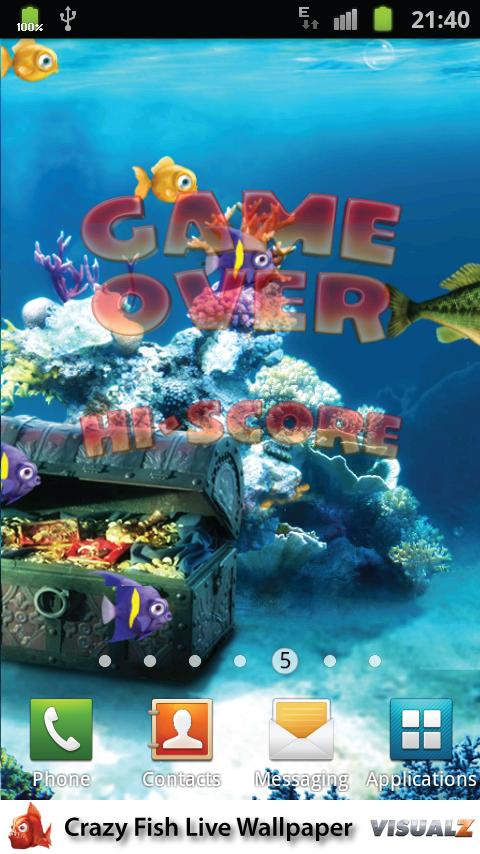 Crazy fish live wallpaper android apps on google play for Fish live game