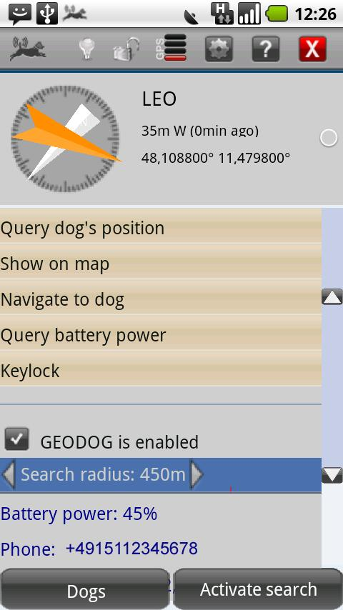 GEODOG™ Mobile - screenshot