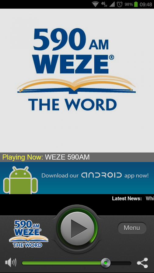 590 WEZE AM - screenshot