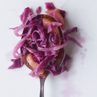 Braised Red Cabbage with Apple and Onion.