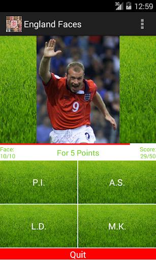 England Faces