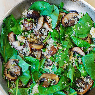 Spinach And Mushroom Quinoa.