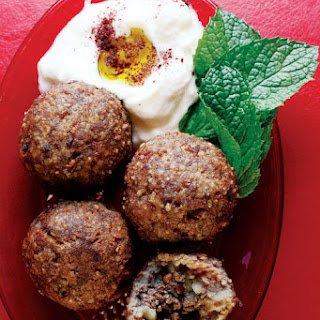 Kibbeh (Beef and Bulgur Wheat Meatballs).