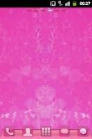 Screenshot of GO Launcher Pink Sweet Theme