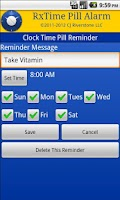 Screenshot of RxTime Pill Reminder