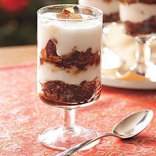 Gingerbread Granola-Yogurt Parfaits.