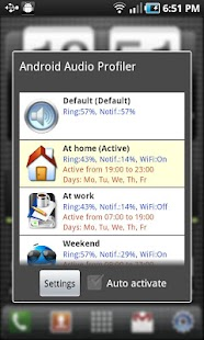 Audio Profile for Android Free- screenshot thumbnail