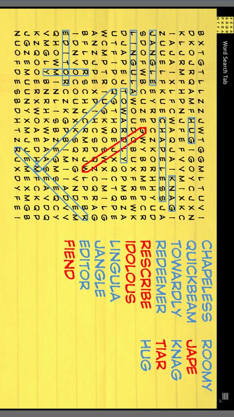 Word Search Tab - screenshot