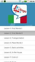 Screenshot of L-Lingo Learn Italian Pro
