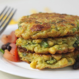 Corn And Avocado Fritters.